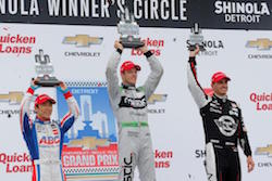 Bourdais Holds of Sato for the Win in Second Dual in Detroit