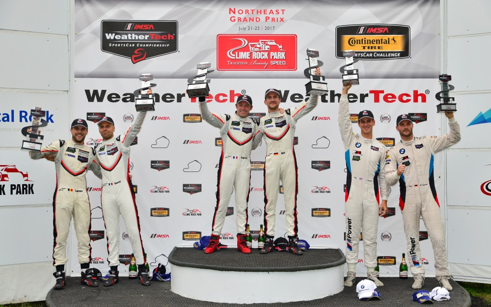 New Porsche Goes 1-2 in Caution-Free WeatherTech Championship Race at Lime Rock