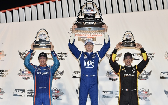 Bold Newgarden Forces Way to Gateway Victory