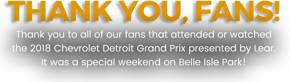 Thank You, Fans!